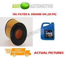 DIESEL OIL FILTER + 0W40 ENGINE OIL FOR OPEL COMBO 1.7 65 BHP 2001-04