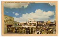 032920 VINTAGE WWII HOLLYWOOD CA POSTCARD HOLLYWOOD CANTEEN US GI'S IN LINE