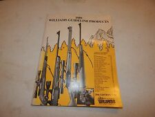 1989 Williams Guideline Products 39Th Edition Catalog Rifles Gun Sight Company