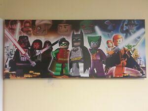 Lego Minifigures canvas print. Batman. Star Wars. Harry Potter. Etc  Etc.