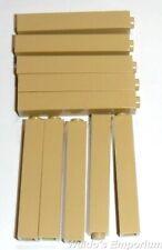 Lego Brick 1x1x5 Solid Stud, 2453b Tan, New, Quantity 10
