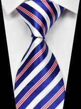 Hot!Classic Striped Blue Red White 100% Silk Men's Fashion Necktie 3.15''(8CM)