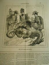 Caricature 1878 - The Dragon killed the tail brainstorming encore