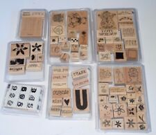 Retired Stampin Up Lot Of 80+ Stamps Flowers All About U Birthday Clown Bear