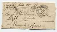 1830s Sunfish Ohio manuscript stampless transatlantic to Switzerland [H.404]