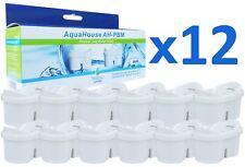 12x aquahouse Cartouches Filtre À Eau Compatible avec Brita Maxtra Filtre Jugs