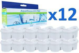 12x AquaHouse Water Filter Cartridges Compatible with Brita Maxtra filter jugs