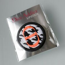 Genuine DIOR Addict Lipstick Embroidered VIP Gift Pin Badge - Coral,Black,White