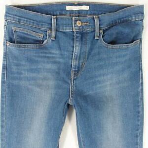 Womens Levi's 28399 SLIMMING SKINNY Stretch Skinny Blue Jeans W31 L34 Size 12