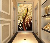 3D Blume Baum Q705 Tapete Wandbild Selbstklebend Abnehmbare Aufkleber Kids Su