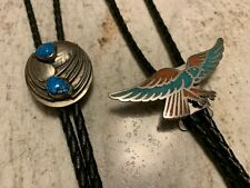 2 Vintage Turquoise Bolo Ties