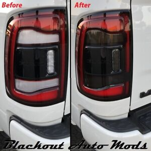 Tail Light SMOKE Rear Tint Overlay Vinyl Fits Dodge 2019-2021 RAM Pickup