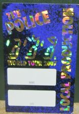 "The Police Laminated Backstage Pass ""World Tour 2007"" - Sting"