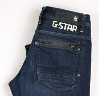 G-Star Raw Herren Attacc Niedrig Gerades Bein Jeans Größe W32 L32 ASZ379