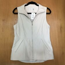 Peter Millar Womens Vest S Golf Zip Quilted Ava Beige Lightweight Pockets $199
