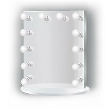 "LED Lighted Vanity WH Hollywood Makeup Mirror 25""x31"" Table or Wall Mount PlugIn"