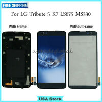 For LG Tribute 5 K7 LS675 MS330 LCD Touch Screen Digitizer ± Frame Replacement #