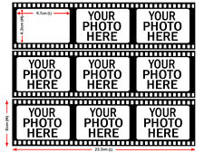 Personalised Photo Film Strip Edible Icing Cake Decoration Image Party Topper