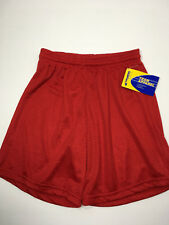 "Champro Boys Performance Lacrosse/Basketball Shorts YOUTH L 26-30"" Waist NWT-Red"