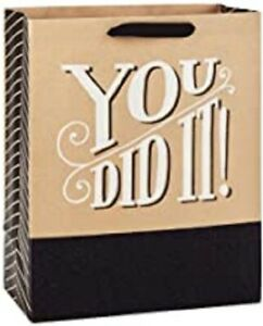 Hallmark You Did It Large Gift Bag With Tissue
