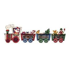 "118"" Lighted Santa Holiday Train Display Outdoor Christmas Decoration Yard"