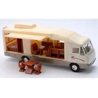 Luxury Camper Van Motorhome Car Model Metal Diecast Toy Vehicle Gift Beige Kids
