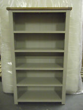 Windermere Sage Grey / Solid Oak Medium Bookcase Fully Assembled
