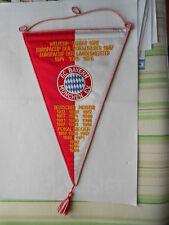 gestickter Wimpel FC Bayern München letzter Eintrag Deutscher Meister 1990 top