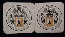 BIERBRAUEREI BECKER OH ST.INGBERT ALLES GUTE PILSNER BEER 2 MAT COASTER 1970 ?