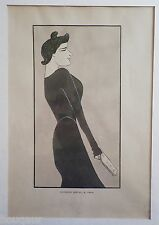Leonetto CAPPIELLO Nos Actrices Lucienne BREVAL Revue Blanche Pochoir 1899
