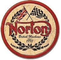 Norton Motorcycle Bike Round Logo British Vintage