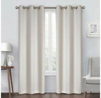 Diamond 84-Inch Grommet Blackout Window Curtain Panel in Beige