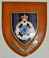 Vintage Royal Army Chaplains' Department regimental mess wall plaque shield RACD