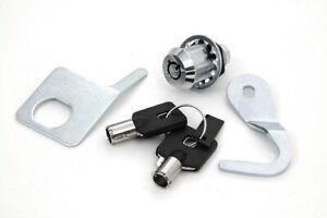V-Twin 49-1006 Chrome Tourpak Lock & Key Kit 92-13 Harley FLH/T Repl. 53194-07