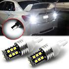 White 7440 7441 LED Back Up Reverse Light Bulbs For Honda Accord Civic 1996-2012