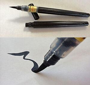 Japanese FUDE BRUSH PEN Medium Size Pentel Calligraphy - Made In Japan