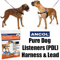 Ancol Obedience Training Pure Dog Listeners PDL Harness & Lead Set Pulling