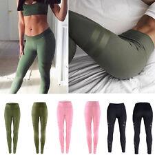 Damen Hose Yoga Leggings Gym Skinny Trainingshose Laufhose Sporthose Tights