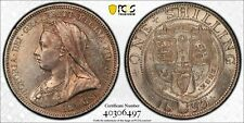 Great Britain Queen Victoria silver shilling 1893 toned uncirculated PCGS MS63
