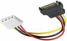 SATA Molex Stromadapter Kabel S-ATA Strom Stecker -> Molex Buchse 4 PIN 0,17 m