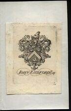 More details for 18th-19th century book plate john ludford esq