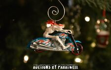 Skeleton Motorcycle Scooter Custom 1/64 Christmas Ornament Harley Tattoo Zombie