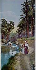 French Desert Oasis Woman and Child Carrying Water!!!!!