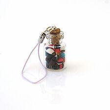 liquorice allsorts glass sweet jar phone charm retro