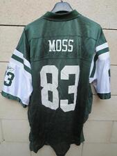 VINTAGE Maillot foot américain JETS NEW YORK MOSS n°83 Reebok NFL shirt L