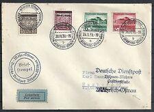 Böhmen&Mähren 1939 cover Deutsche Dienstpost to Hamburg
