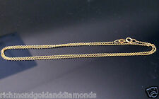Italian Mens Womens 14k White Gold Necklace Rope Link Chain 1mm 16""