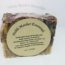 4 TYPES OF CLAY, Handcrafted Hand Soap, 1 Bar, 5.3 oz, Exfoliate & detoxify .