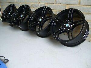 "Genuine BMW 313 19"" Alloy Wheels: GLOSS BLACK E90 E91 E92 E93 - **REFURBISHED**"