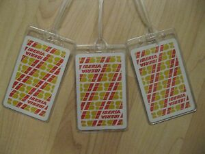 Iberia Airlines Luggage Tags - Vintage Playing Card Spain Air Line Name Tag (3)
